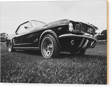 1966 Ford Mustang 289 Wood Print by motography aka Phil Clark
