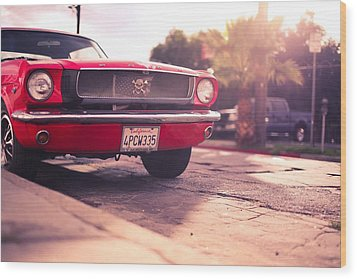 Wood Print featuring the photograph 1966 Ford Mustang Convertible by Gianfranco Weiss
