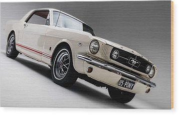 Wood Print featuring the photograph 1966 Mustang Gt by Gianfranco Weiss