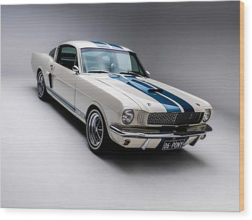 Wood Print featuring the photograph 1966 Mustang Gt350 by Gianfranco Weiss