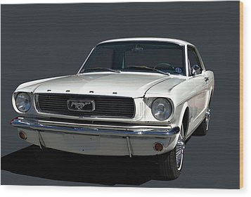 1966 Mustang Wood Print by Tim McCullough