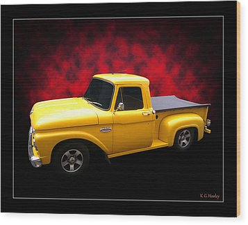 Wood Print featuring the photograph 1966 Pickup by Keith Hawley