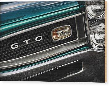 1966 Pontiac Gto Wood Print by Gordon Dean II