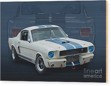 1966 Shelby Gt350 Wood Print