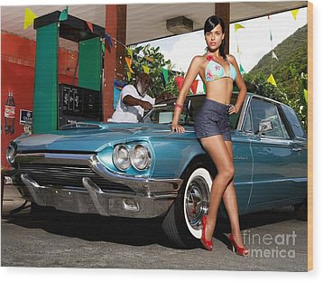 1966 Thunderbird Wood Print