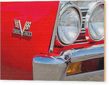1967 Chevrolet Chevelle Ss Emblem Wood Print by Jill Reger