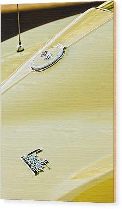 1967 Chevrolet Corvette Sport Coupe Emblem 2 Wood Print by Jill Reger