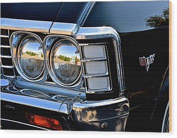 1967 Chevy Impala Front Detail Wood Print by Bill Owen