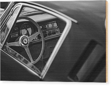 1967 Ferrari 275 Gtb-4 Berlinetta Steering Wheel Wood Print by Jill Reger