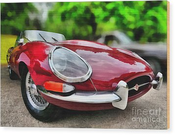 1967 Jaguar E Type Wood Print