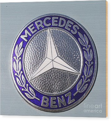 1967 Mercedes Benz Logo Wood Print
