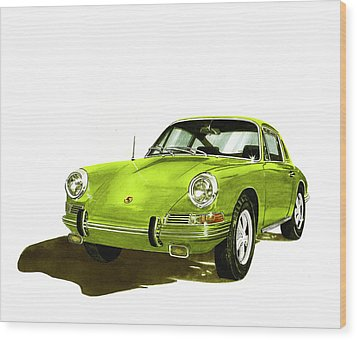 Porsche 911 Sportscar Wood Print