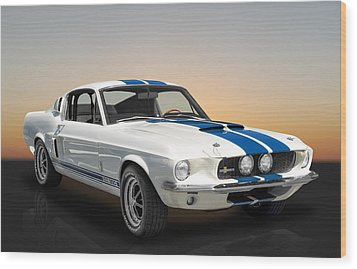 1967 Shelby Mustang Gt-350 With A Paxton Supercharger Wood Print