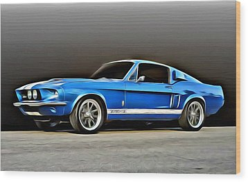 1967 Shelby Mustang Gt500 Wood Print