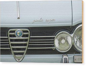 1968 Alfa Romeo Giulia Super Grille Wood Print by Jill Reger
