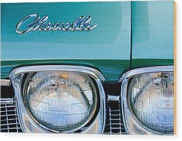 1968 Chevrolet Chevelle Headlight Wood Print by Jill Reger
