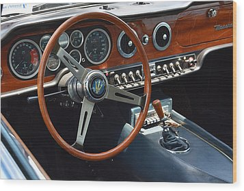 1968 Maserati Interior Wood Print by Mike Martin
