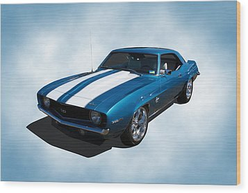 1969 Camaro Wood Print by Keith Hawley