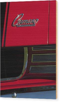 1969 Chevrolet Camaro Rally Sport Emblem Wood Print by Jill Reger