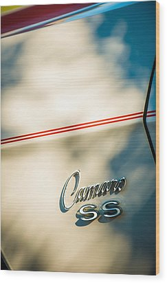1969 Chevrolet Camaro Rs-ss Indy Pace Car Replica Side Emblem Wood Print by Jill Reger