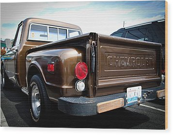 1969 Chevrolet Pickup II Wood Print by David Patterson
