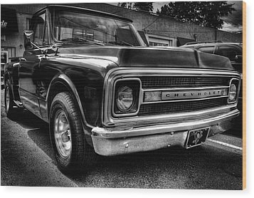 1969 Chevrolet Pickup V Wood Print by David Patterson