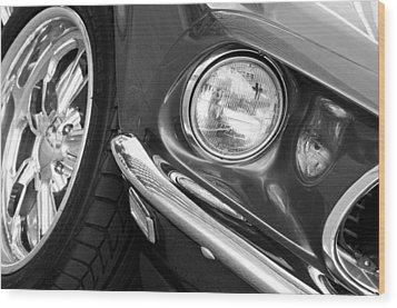1969 Ford Mustang Mach 1 Front End Wood Print by Jill Reger