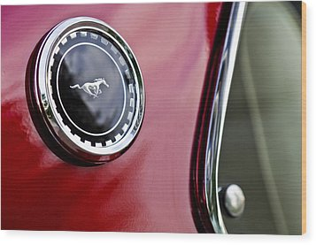 1969 Ford Mustang Mach 1 Wood Print by Jill Reger