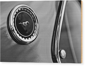 1969 Ford Mustang Mach 1 Side Emblem Wood Print by Jill Reger