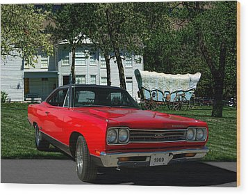 1969 Plymouth Gtx 440 Magnum Wood Print by Tim McCullough