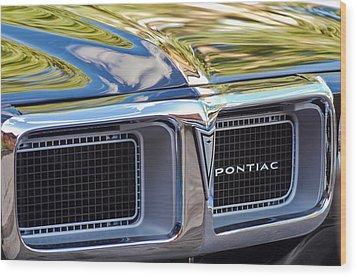 1969 Pontiac Firebird 400 Grille Wood Print by Jill Reger
