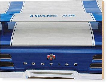 1969 Pontiac Trans Am Tail Fin Emblem Wood Print by Jill Reger