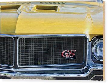 1970 Buick Gs Grille Emblem Wood Print by Jill Reger