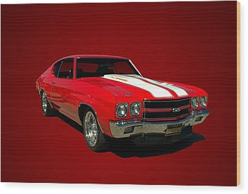 1970 Chevelle Super Sport Wood Print by Tim McCullough