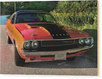 1970 Dodge Challenger Rt Wood Print by Thomas Schoeller