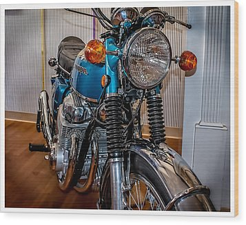 Wood Print featuring the photograph 1970 Honda Cb 750 by Steve Benefiel