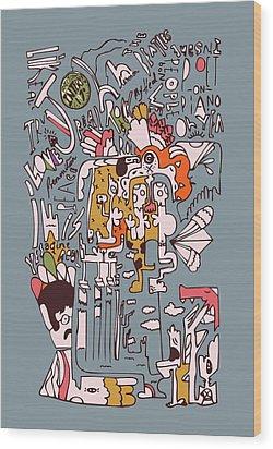 1970 John Rolling Stones Interview  Wood Print by Jos De La Paz