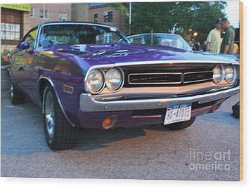 1971 Challenger Front And Side View Wood Print by John Telfer