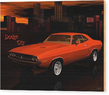 1971 Challenger Wood Print by John Pangia