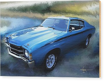1971 Chevy Chevelle Wood Print by Robert Smith