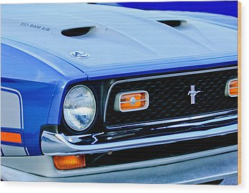 1971 Ford Mustang Boss 351 Cleveland Wood Print by Jill Reger
