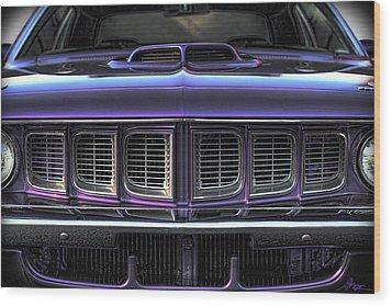 1971 Plymouth 'cuda 440 Wood Print by Gordon Dean II
