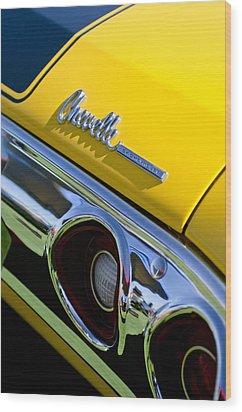 1972 Chevrolet Chevelle Taillight Emblem Wood Print by Jill Reger