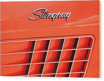 1972 Chevrolet Corvette Stingray Emblem 3 Wood Print by Jill Reger