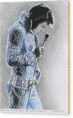 1972 Light Blue Wheat Suit Wood Print