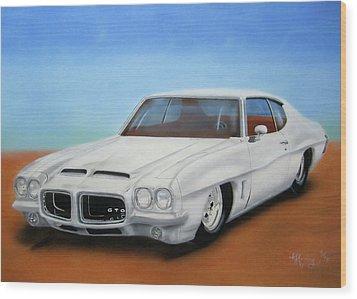 Wood Print featuring the painting 1972 Pontiac Gto by Thomas J Herring