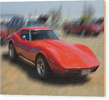 Wood Print featuring the photograph 1973 Corvette by B Wayne Mullins