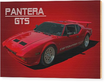 1973 Detomaso Pantera Gts Wood Print by Tim McCullough