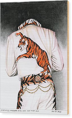 1974 Mad Tiger Suit Wood Print by Rob De Vries