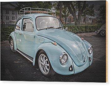 1974 Volkswagen Beetle Vw Bug Wood Print